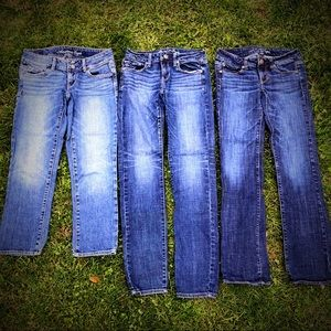 American Eagle lot of 3 size 2 women's jeans AE